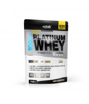 100% PLATINUM WHEY (25 ПОРЦ) (750 ГР)