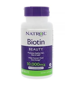 BIOTIN (БИОТИН) 10,000 МКГ ОТ NATROL (60 ТАБЛ)