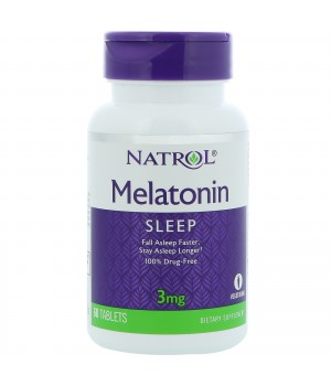 MELATONIN 3 МГ ОТ NATROL (60 ТАБЛ)